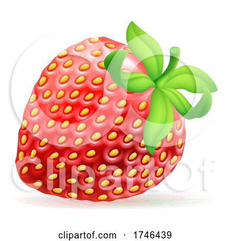 Strawberry Cartoon Emoji Emoticon Icon by AtStockIllustration