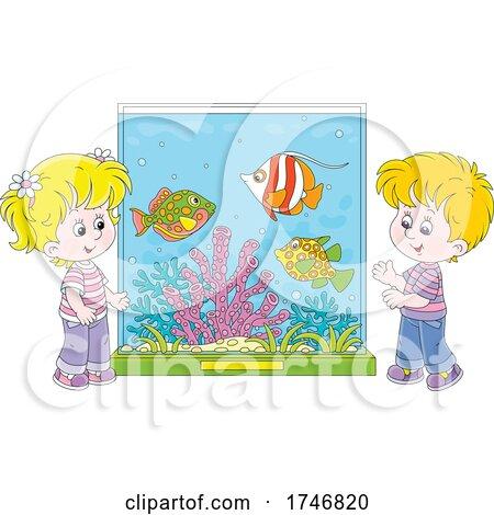 Children at an Aquarium by Alex Bannykh