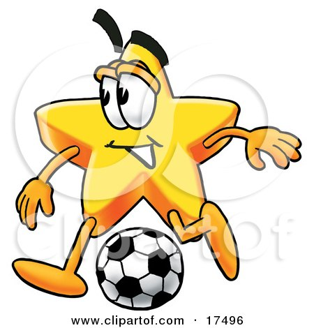 http://images.clipartof.com/small/17496-Clipart-Picture-Of-A-Star-Mascot-Cartoon-Character-Kicking-A-Soccer-Ball.jpg