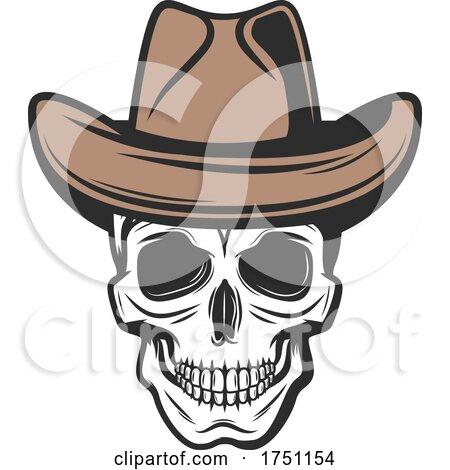 Cowboy Skull by Vector Tradition SM