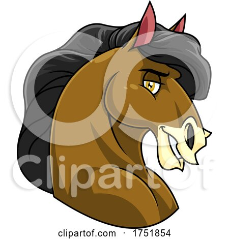 Horse Mascot Bust in Profile by Hit Toon