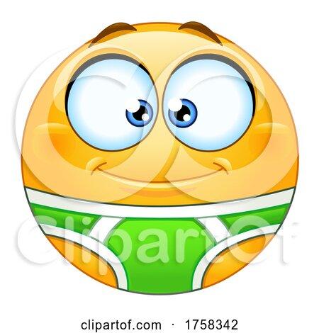 Cartoon Yellow Smiley Emoticon Emoji in Underwear by yayayoyo