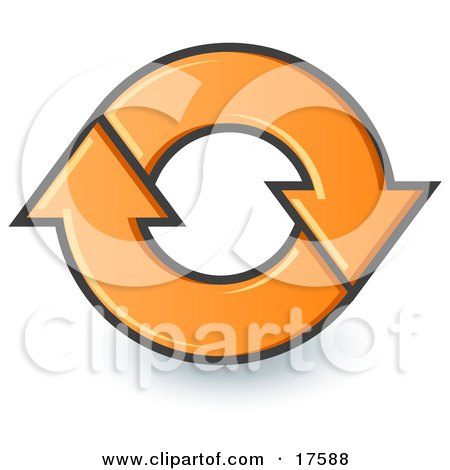 Two Orange Page Reload Or Refresh Internet Website Arrows Moving In A Clockwise Motion Posters, Art Prints
