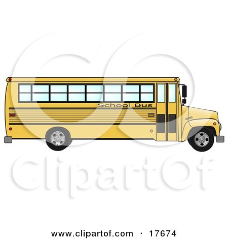 the Side of an Empty Yellow School Bus  Posters, Art Prints