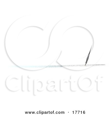 Clipart Illustration of an Old Fashioned Calligraphy Ink Pen Writing In Blue And Black Binary Code, Conceptualizing Changes In Technology by Leo Blanchette