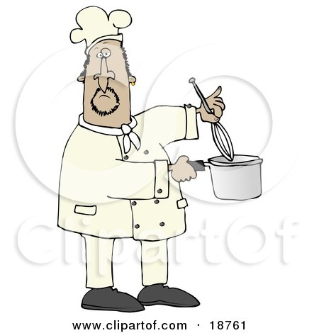 Mexican Male Chef Stirring Food In A Pot With A Whisk Posters, Art Prints