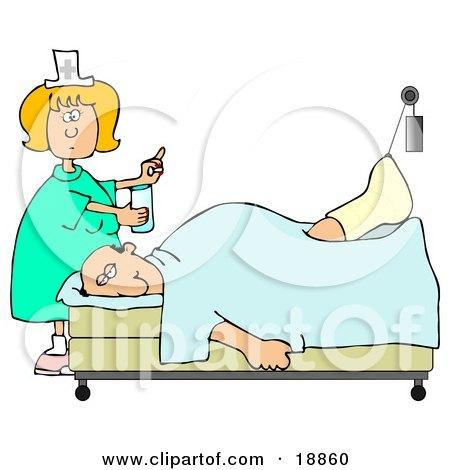 Nurse Back Pain Clipart