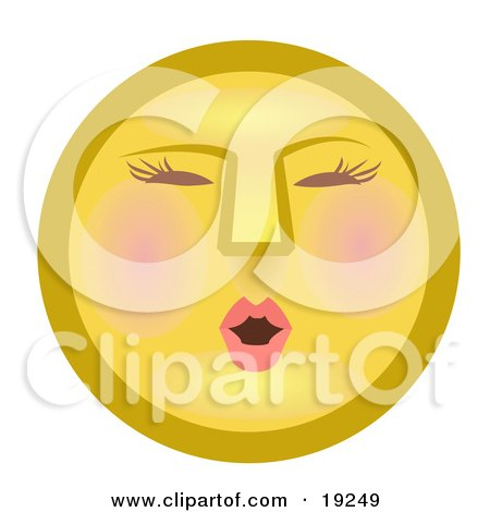 Modest Female Yellow Smiley Face Blushing Posters, Art Prints