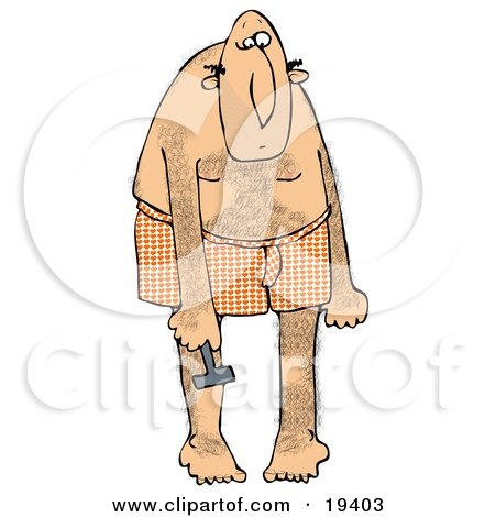 Clipart Illustration of a Metrosexual White Man Wearing Heart Patterned Boxers, Bending Over And Shaving His Legs So They Are Smooth by djart