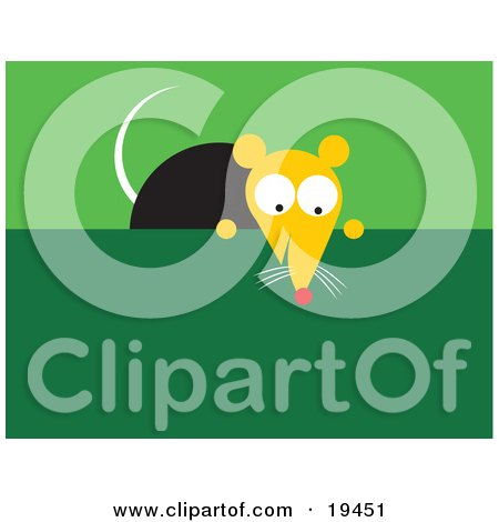 Clipart Of A Garbage Bin With Flies And Rats Royalty