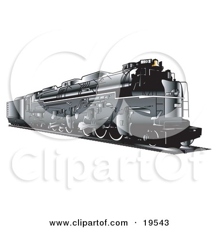 Clipart Illustration Of A Retro Train Moving Along The Tracks