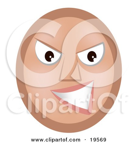 Meany Emoticon Face Grinning At A Victim Of Bullying Posters, Art Prints