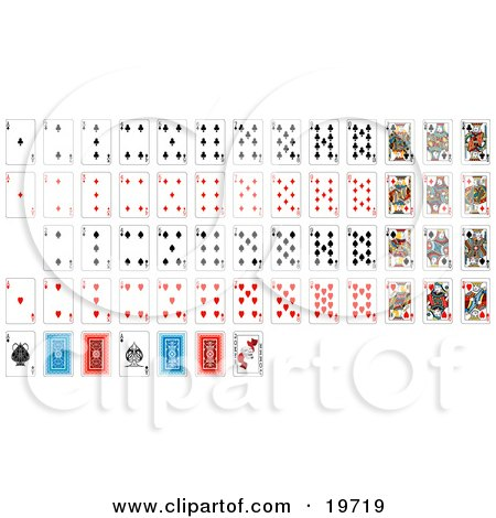 Full Set Of Playing Cards With Details Of The Back Sides Posters, Art Prints