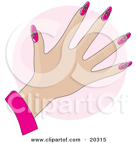 clipart illustration of a woman s hand with acrylic flame
