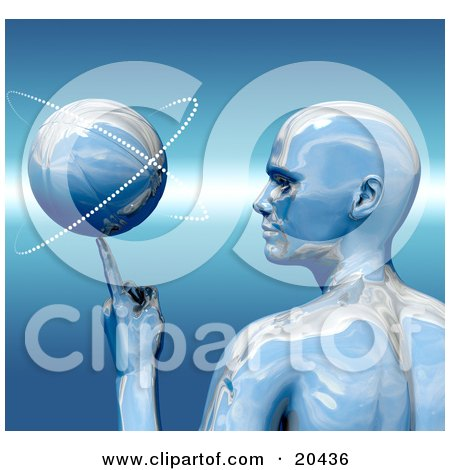 Platinum Basketball Star In Profile, Spinning A Ball On The Tip Of His Finger Posters, Art Prints
