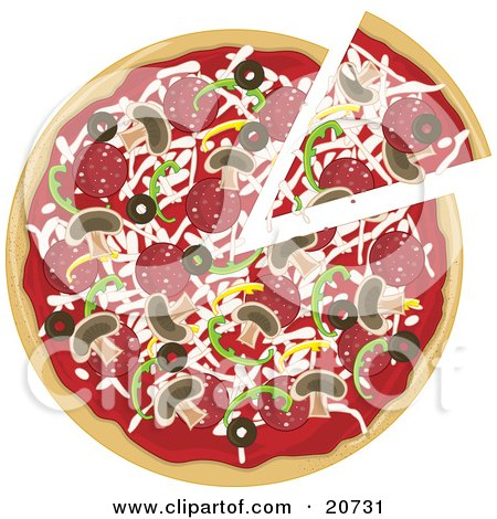pizza slice clipart. Clipart Illustration of a