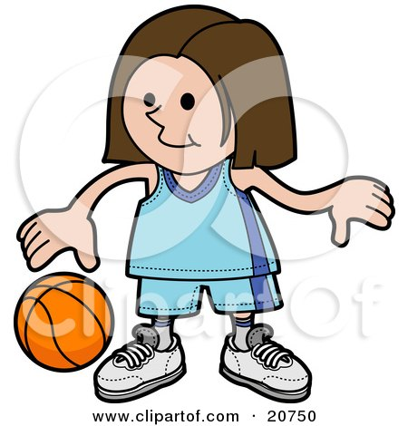 Royalty-Free (RF) Girls Basketball Clipart, Illustrations, Vector ...