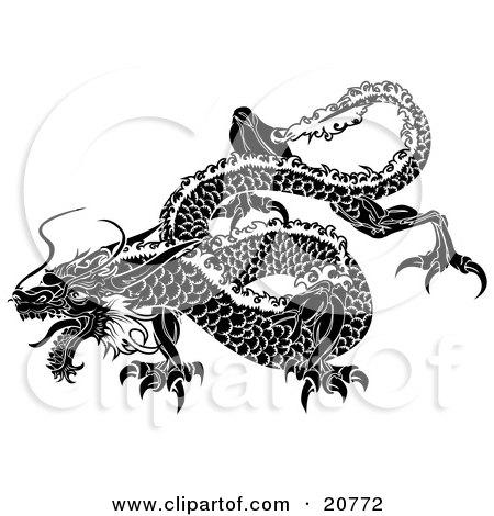 Black Dragon Flying
