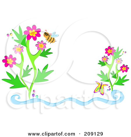 Butterfly Flower Picture on Of A Bee Wearing Glasses By Flowers And A Butterfly By Bpearth  209129