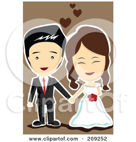 Royalty-Free (RF) Clipart Illustration of a Cute Wedding ...