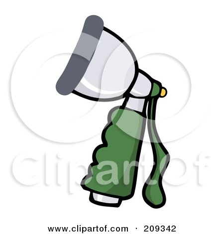Royalty-Free (RF) Clipart Illustration of a Hand Held Hose Spray Nozzle by Hit Toon