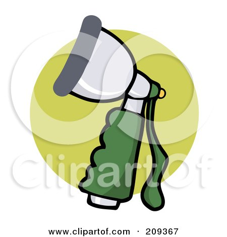Royalty-Free (RF) Clipart Illustration of a Hose Spray Nozzle by Hit Toon