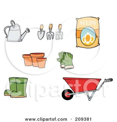 garden tools clip art. Royalty-Free (RF) Clipart