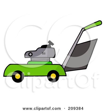 Green Lawn Mower Posters, Art Prints