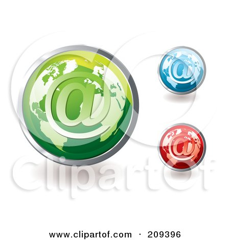 Royalty-Free (RF) Clipart Illustration of a Digital Collage Of Colorful Global Email Icons by michaeltravers