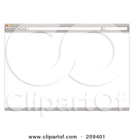 Royalty-Free (RF) Clipart Illustration of a Gray Internet Web Browser With A Blank Screen by michaeltravers