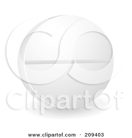 Royalty-Free (RF) Clipart Illustration of a Round White Pill by michaeltravers