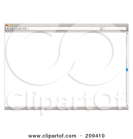 Royalty-Free (RF) Clipart Illustration of a Gray Internet Web Browser With A Slider Bar And Blank Screen by michaeltravers