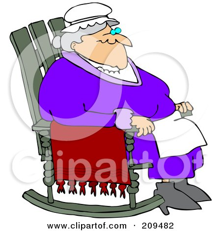Rocking Chairs on Relaxed Old Woman Sitting In A Rocking Chair By Dennis Cox  209482