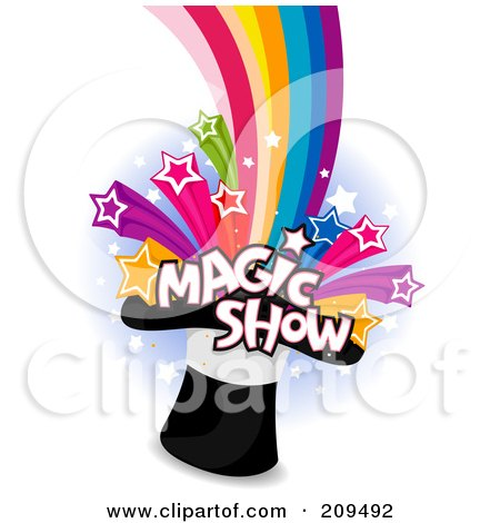 Free Funny Picture Texts on Royalty Free  Rf  Clipart Illustration Of Magic Show Text And Stars