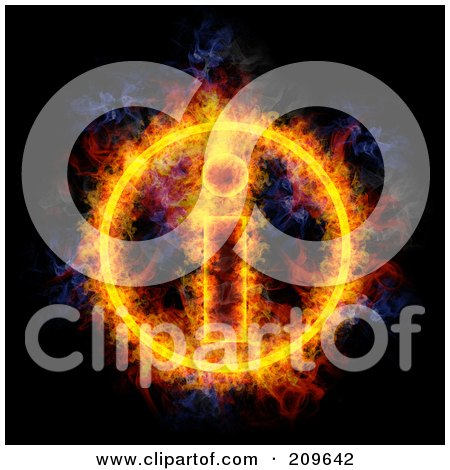 Royalty-Free (RF) Clipart Illustration of a Blazing Information Symbol by Michael Schmeling