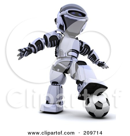 Robot Character Clipart #209714 - Illustration by KJ Pargeter
