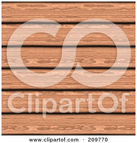 Royalty-Free (RF) Clipart Illustration of a Background Of Cherry Wood Planks by Arena Creative
