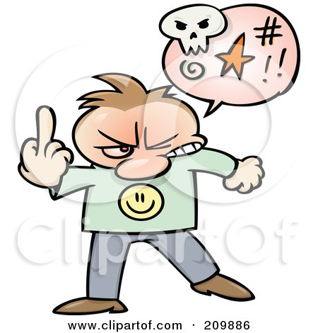 Angry Toon Guy Swearing And Holding Up His Middle Finger Posters, Art Prints