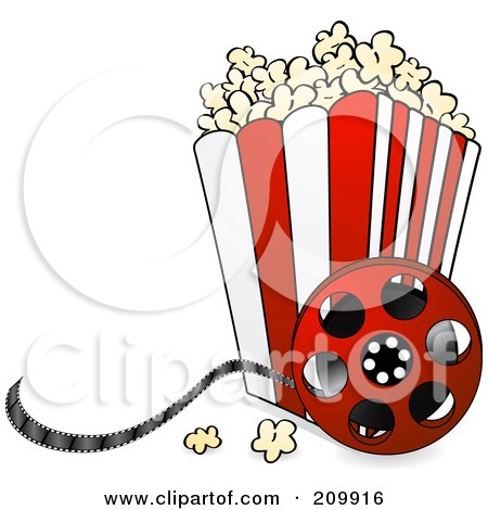 Bucket Of Popcorn With A Film Reel Posters, Art Prints