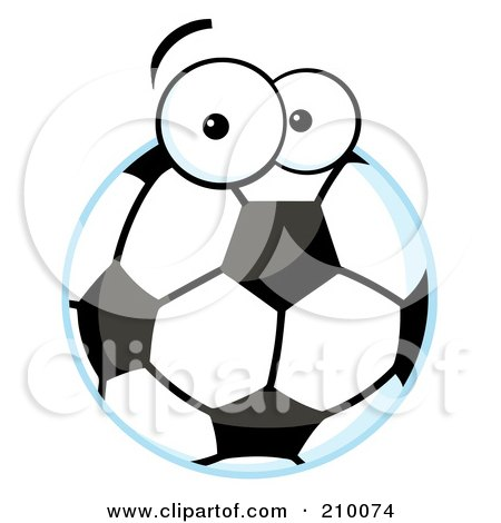 Royalty-Free (RF) Clipart Illustration of a Soccer Ball With Eyes by Hit Toon