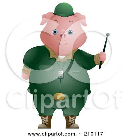 High quality cartoon Pig clip art image you cannot find or download anywhere