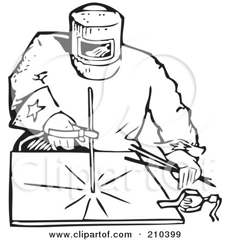 welding coloring pages - royalty free rf clipart illustration of a retro black