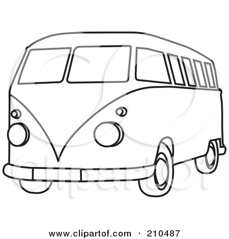 van black and white clipart - photo #45