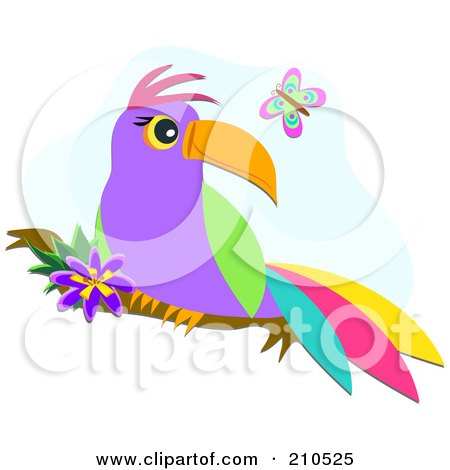 Royalty-Free (RF) Tropical Bird Clipart, Illustrations ... Yellow Butterfly Clipart