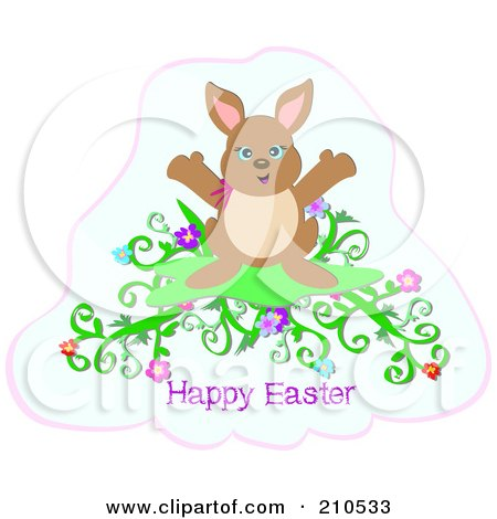 easter bunny clipart free. Royalty-free clipart picture