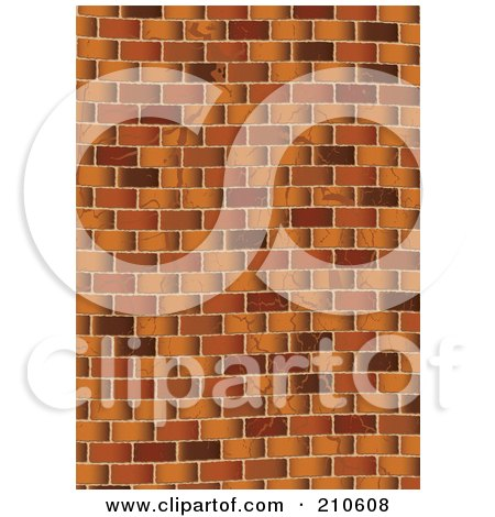 Royalty-Free (RF) Clipart Illustration of a Grungy Brown Brick Wall Background by michaeltravers