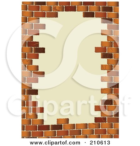 Royalty Free RF Clipart Illustration Of A Grungy White Brick