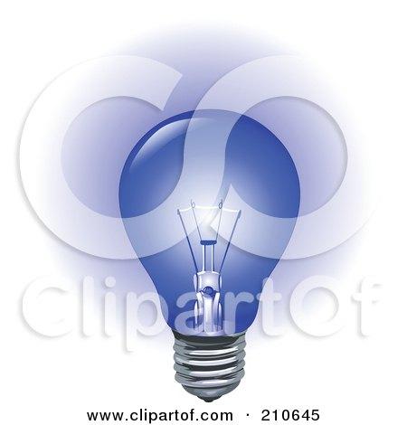 Royalty Free Rf Clip Art Illustration Of A Light Bulb