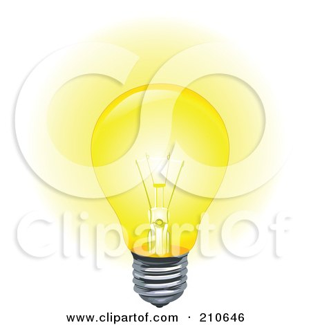 Royalty Free Rf Clip Art Illustration Of A Light Bulb