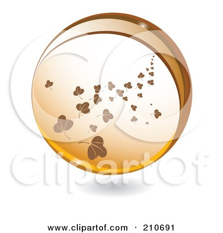 Royalty-Free (RF) Clipart Illustration of a Sphere Of Falling Brown Leaves by MilsiArt